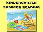 Kindergarten Summer Reading
